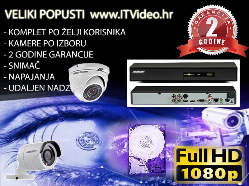 HD Hik video nadzor 2 kamere antivandal Dome ili Bullet