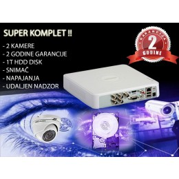VIDEO NADZOR 2 KAMERE - KOMPLET + HDD