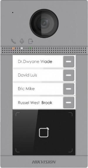HikVision IP portafon s 4 pozivne tipke DS-KV8413WME1 microSD  kartica do 128GB, WIFI opcija, ALRM IN / OUT