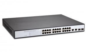 POE SWITCH 24-PORT 10/100+2x1000/GBIC